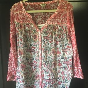 Lucky Brand pattered top.  Size Medium.